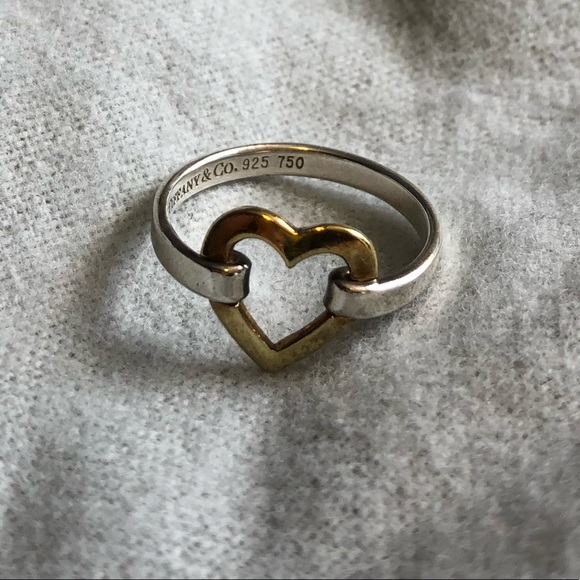 fb27154c7 Authentic Tiffany & Co two tone heart ring. M_5ab07eda9a94550ac25cb941